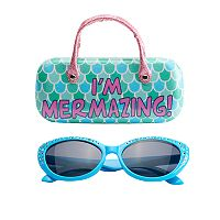 Girls 5-16 Mermaid Sunglasses & Hard Case Set