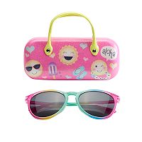 Girls 5-16 Emoji Sunglasses & Hard Case Set
