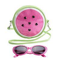Girls 4-16 Watermelon Crossbody Bag & Sunglasses Set