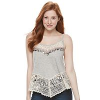 Juniors' Mason & Belle Coin Trim Knit Tank