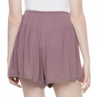 Juniors' Mason & Belle Embroidered Hem Shortie Shorts