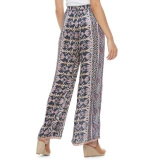 Juniors' Mason & Belle Pom-Pom Trim Soft Pants
