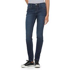 Juniors' Mudd® FLX Stretch Faded Skinny Jeans
