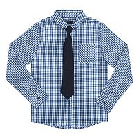 Boys 8-20 French Toast Plaid Shirt & Tie Set