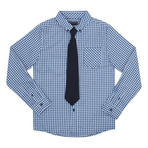 Boys 8-20 French Toast Plaid Shirt & Tie Set