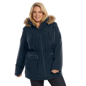 Plus Size Croft & Barrow® Hooded Anorak Stadium Jacket