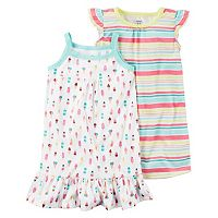 Girls 4-14 Carter's 2-pc. Print Nightgown Set