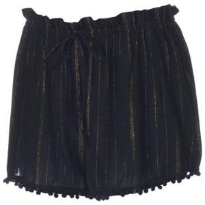 Juniors' About A Girl Metallic Stripe Shortie Shorts