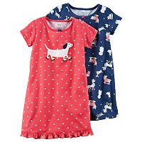 Girls 4-14 Carter's Print Nightgown Set