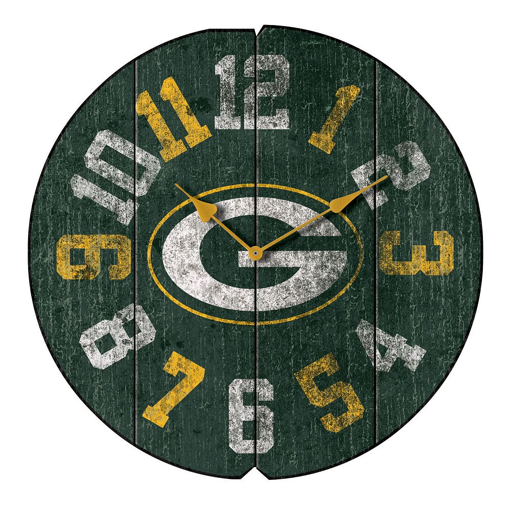 Green Bay Packers Vintage Round Clock