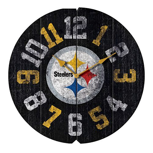 Pittsburgh Steelers Vintage Round Clock
