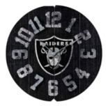 Oakland Raiders Vintage Round Clock