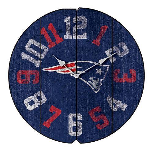 New EnglandPatriots Vintage Round Clock