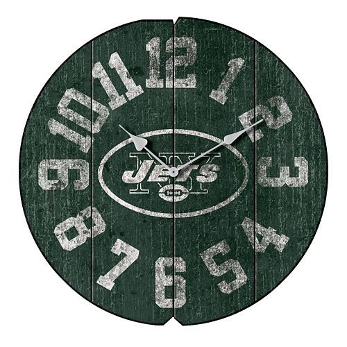 New York Jets Vintage Round Clock