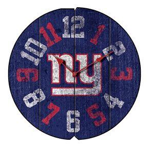 New York Giants Vintage Round Clock