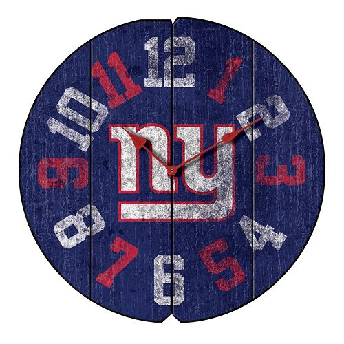 New York Giants Vintage Round Clock