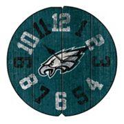 Philadelphia Eagles Vintage Round Clock