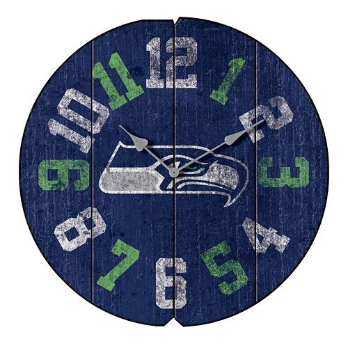 Seattle Seahawks Vintage Round Clock