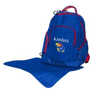 Kansas Jayhawks Lil' Fan Diaper Backpack
