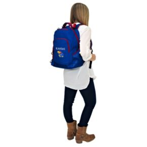 Kansas Jayhawks Lil' Fan Diaper Backpack