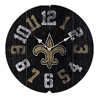 New Orleans Saints Vintage Round Clock