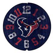 Houston Texans Vintage Round Clock