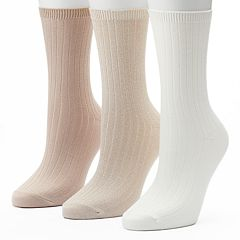 Women's SONOMA Goods for Life™ 3 pkMarled Ribbed Crew Socks