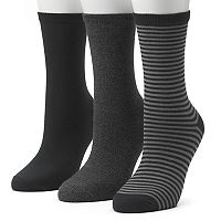 Women's SONOMA Goods for Life™ 3-pk. Striped Crew Socks