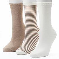 Women's SONOMA Goods for Life™ 3-pk. Striped Crew Socks