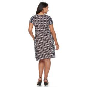 Plus Size Suite 7 Ikat Shift Dress