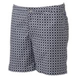 Men's Cole Slim-Fit Geometric Hybrid Swim Trunks