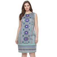 Plus Size Suite 7 Cotton Sateen Shift Dress