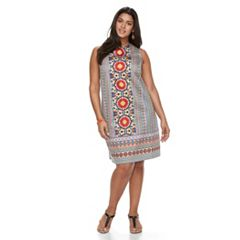 Plus Size Suite 7 Cotton Sateen Shift Dress