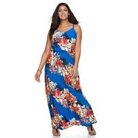 Plus Size Suite 7 Floral Maxi Dress