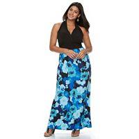 Plus Size Suite 7 Floral Surplice Maxi Dress
