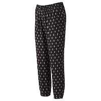 Juniors' About A Girl Print Jogger Pants