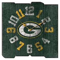Green Bay Packers Vintage Square Clock