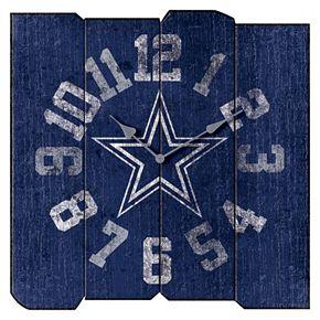 Dallas Cowboys Vintage Square Clock