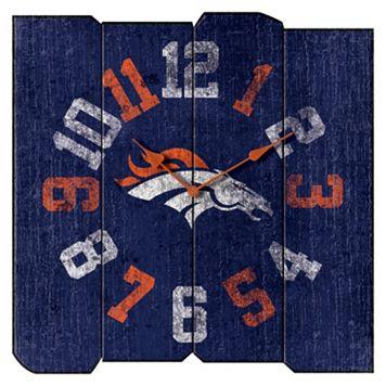Denver Broncos Vintage Square Clock