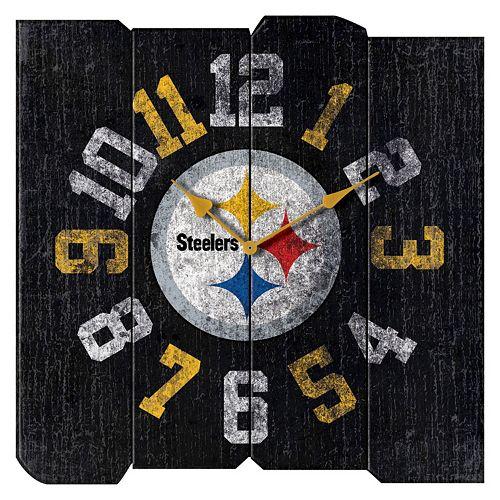 Pittsburgh Steelers Vintage Square Clock