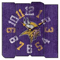 Minnesota Vikings Vintage Square Clock