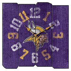 Minnesota Vikings Vintage Square Clock
