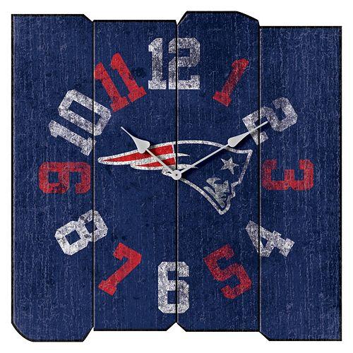 New EnglandPatriots Vintage Square Clock