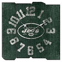 New York Jets Vintage Square Clock