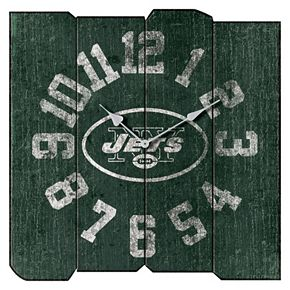 New York Jets Vintage Square Clock