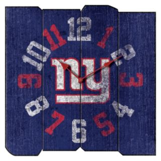 New York Giants Vintage Square Clock