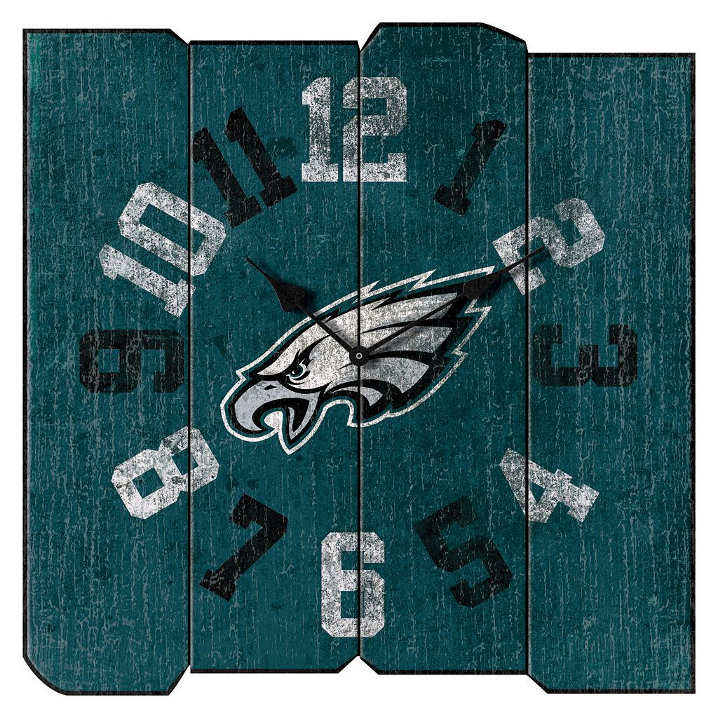 Philadelphia Eagles Vintage Square Clock