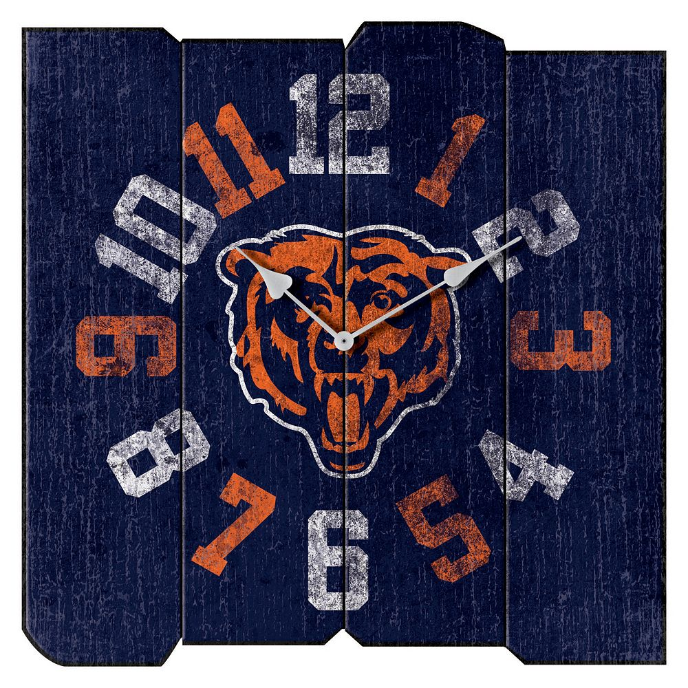 Chicago Bears Vintage Square Clock