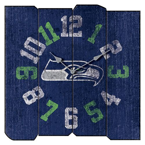 Seattle Seahawks Vintage Square Clock