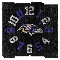 Baltimore Ravens Vintage Square Clock